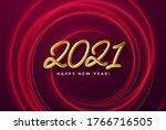 realistic shiny 3d golden... | Shutterstock .eps vector #1766716505