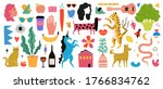 Vector Set With People  Animals ...