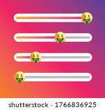 insta emoji slider. yellow face ... | Shutterstock .eps vector #1766836925