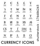 icons currencies in the world... | Shutterstock .eps vector #176686265