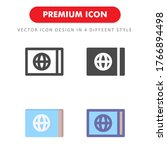 ticket icon pack isolated on...