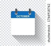 calendar daily flat october... | Shutterstock .eps vector #1766918762