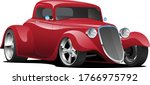 Custom American Red Hot Rod Ca...