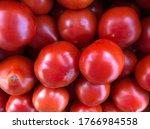 Macro Photo Red Tomato. Stock...