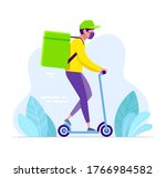 delivery man or courier in... | Shutterstock .eps vector #1766984582
