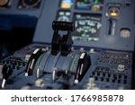 Control Aviation Panel Of Plane ...