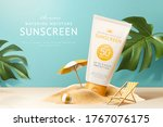 ad template for summer products ...   Shutterstock . vector #1767076175