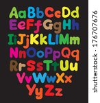 alphabet bubble colored hand... | Shutterstock . vector #176707676