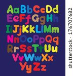 alphabet bubble colored hand... | Shutterstock . vector #176707682