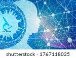 microscope and virrus... | Shutterstock . vector #1767118025