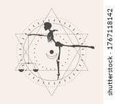 mystery  witchcraft  occult and ... | Shutterstock .eps vector #1767118142