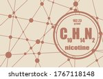 chemical formula of nicotine.... | Shutterstock .eps vector #1767118148