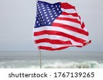 American Flag Flying The The...
