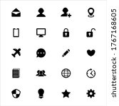 user interface vector icons on...