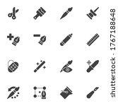designer tools line icons set ...