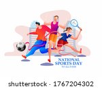 national sports day is a public ... | Shutterstock .eps vector #1767204302