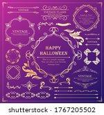 halloween frame material ... | Shutterstock .eps vector #1767205502