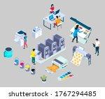 publishing house  print shop ... | Shutterstock .eps vector #1767294485
