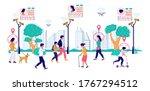 state surveillance  vector flat ... | Shutterstock .eps vector #1767294512