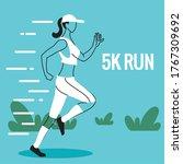 woman avatar running and 5k run ...   Shutterstock .eps vector #1767309692