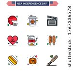 big pack of 9 usa happy... | Shutterstock .eps vector #1767336578
