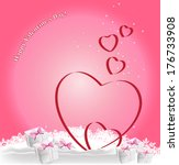 heart  gifts and snowflakes on ...   Shutterstock .eps vector #176733908