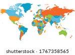 world map. high detailed...   Shutterstock .eps vector #1767358565