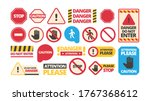 attention boards. admittance... | Shutterstock .eps vector #1767368612