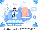 speech therapist for online... | Shutterstock .eps vector #1767373802