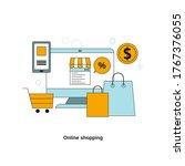 online shopping concept. vector ...