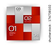 red squares in the white space  ... | Shutterstock .eps vector #176738102