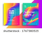 summer bright party poster.... | Shutterstock .eps vector #1767383525