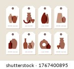 vector linear design tags with... | Shutterstock .eps vector #1767400895