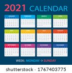 2021 calendar   vector...   Shutterstock .eps vector #1767403775