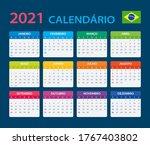 2021 calendar   vector template ...   Shutterstock .eps vector #1767403802
