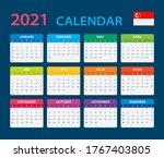 2021 calendar   vector template ...   Shutterstock .eps vector #1767403805
