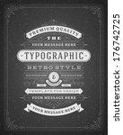 retro typographic design... | Shutterstock .eps vector #176742725