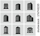Stock vector hotel icon 176743235