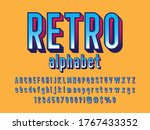 comical halftone style alphabet ... | Shutterstock .eps vector #1767433352