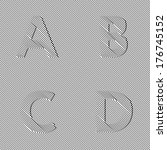 A, B, C, D - Invisible letters alphabet - optical illusion