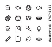 thin line icons for food....