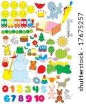 simple objects for kindergarten   Shutterstock .eps vector #17675257