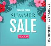 summer sale special offer... | Shutterstock .eps vector #1767528728