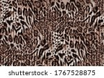 Abstract Furry Leopard Skin...