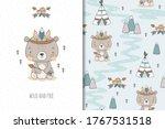 cute baby teddy bear. cartoon... | Shutterstock .eps vector #1767531518