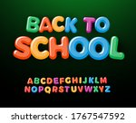 back to school letters and... | Shutterstock .eps vector #1767547592