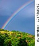 Beautiful Intense Rainbow Over...