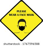 wear mask sign and symbol....   Shutterstock .eps vector #1767596588
