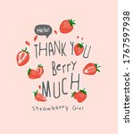 thank you slogan with cartoon...   Shutterstock .eps vector #1767597938