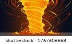 flat style fire twist tornado | Shutterstock .eps vector #1767606668